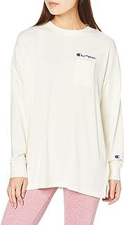 [チャンピオン] ロングスリーブポケットTシャツ ストレッチ UVカット スクリプトロゴ WOMEN'Sスポーツ アスレジャー CW-US406 レディース