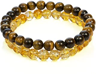Divine Magic Chakra Healing Crystal Gemstone Stretch Bracelet Set Citrine Jewelry Tiger Eye Real Stones | Spiritual Gifts ...