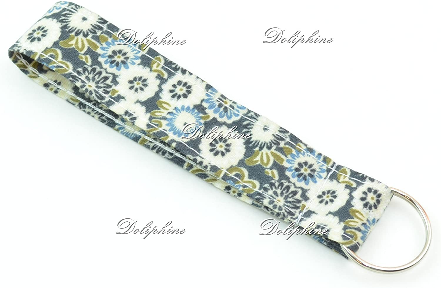 Floral Print Save money Wristlet Fabric Lanyard Key Chain ID B for fob Fixed price for sale