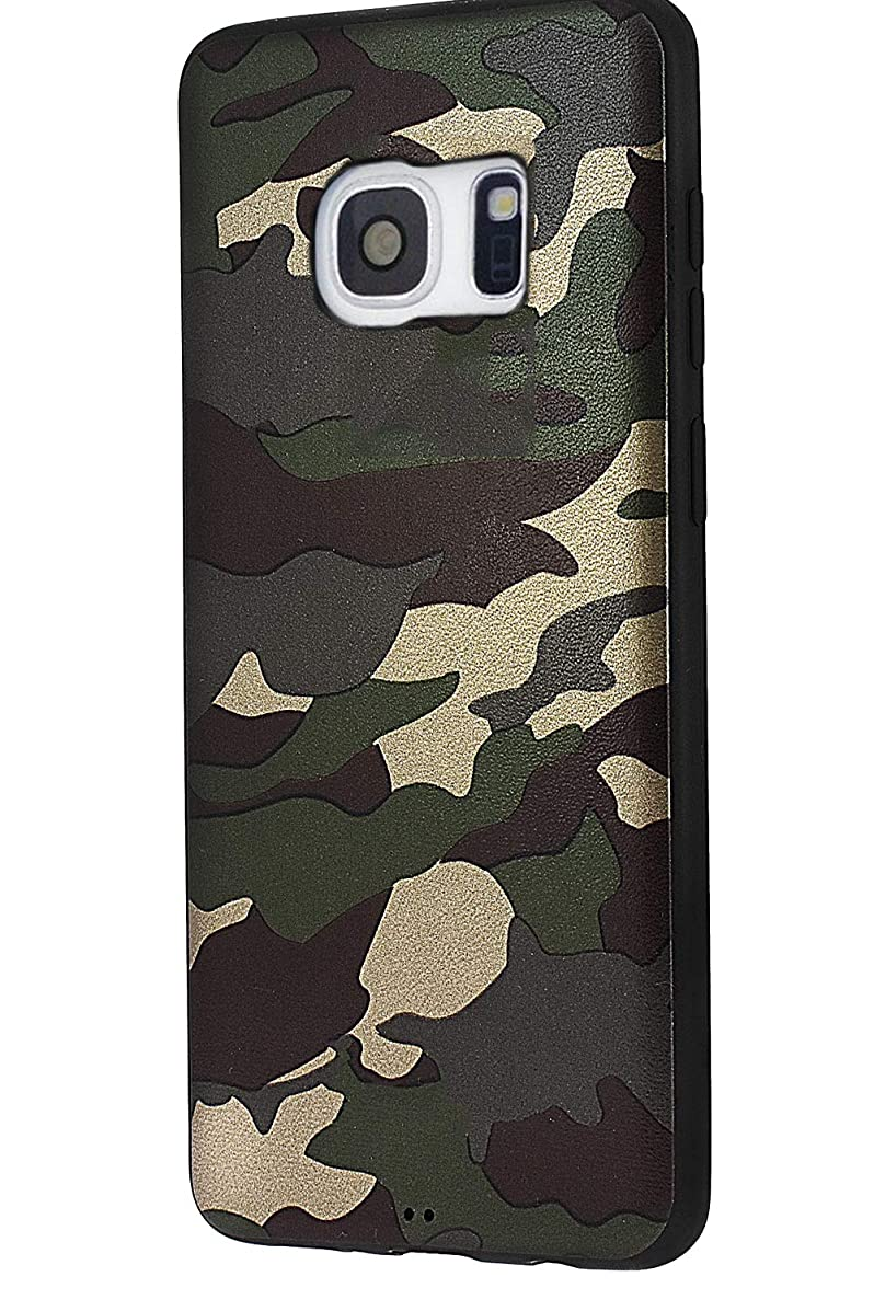Galaxy S6 Case,Shockproof Armor Soft TPU Slim Fit Camouflage Case for Samsung Galaxy S6 - Camo Green