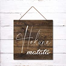 3ft X 6 In HAKUNA MATATA Wood Sign Lion King Wall Decor Rustic Contemporary