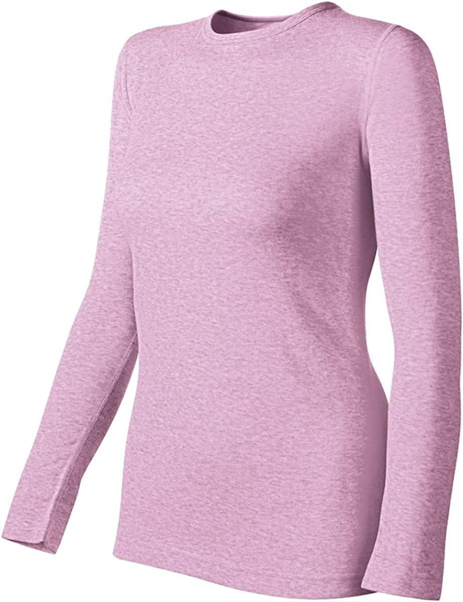 Duofold by Champion Originals Mid-Weight Women's Thermal Shirt_Pink Heather_S