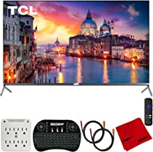 $849 » TCL 65R625 65-inch 6-Series 4K QLED UHD HDR Roku R625 Smart TV (2019) Bundle with 2X Deco Gear HDMI Cable, Wireless Keyboard, Microfiber Cleaning Cloth and 6-Outlet Surge Adapter with Night Light