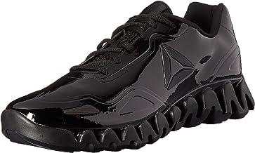 Reebok Men`s Zig Pulse Running Shoe, black/black/patent, 12 M US
