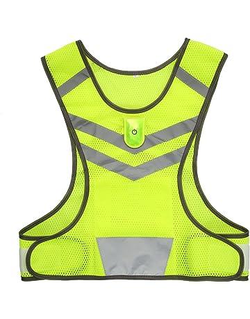 HYCOPROT Chaleco Reflectante Equipo de Seguridad Chalecos,2pcs Chaleco Ajustable de Alta Visibilidad Ropa de Trabajo Deportes Correr Ciclismo Senderismo Motocicleta Perro Caminando para Adultos//ni/ños