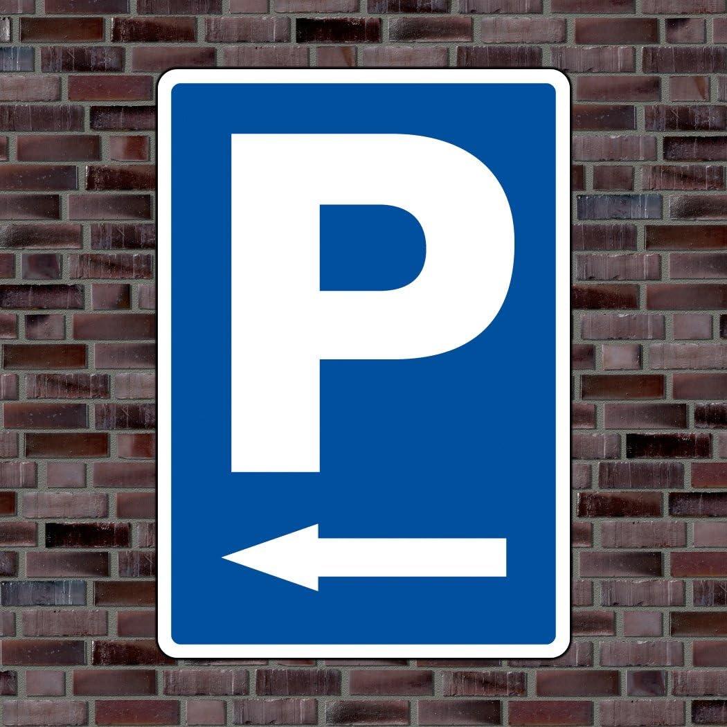 Parkplatzschild Symbol Pfeil Links Hochwertiges Alu Verbundmaterial Größe 42 X 30cm Ca Din A3 Auto