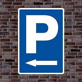 Parkplatzschild Symbol «Pfeil Links»   Hochwertiges Alu Verbundmaterial   Größe 42 x 30cm (ca. DIN A3)