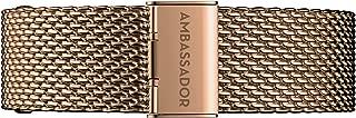 Ambassador Quick Release Straps - Interchangeable, Gold Mesh (20mm) - Premium Watch Strap …