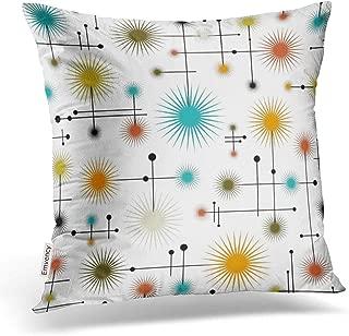 Emvency Throw Pillow Cover Retro Starbursts A Go Decorative Pillow Case Home Decor Square 18 x 18 Inch Cushion Pillowcase