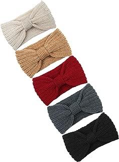 Knitted Hairband Crochet Twist Ear Warmer Winter Braided Head Wraps for Women Girls