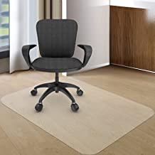 Kuyal Office Chair Mat for Hardwood Floor, 30'' x 48'' Rectangle Transparent Desk Thick Durable Chair Mat for Rolling Chai...