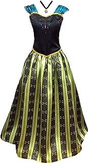 Adult Womens Frozen Anna Coronation Dress Elsa Costume Princess and Accessories