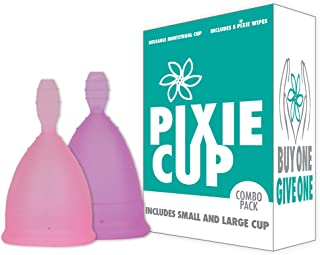 Ranked 1 for Most Comfortable Menstrual Cup and Better Removal Stem Than All Other Brands - Every Cup Purchased One is Given to a Woman in Need! (Combo Pack)