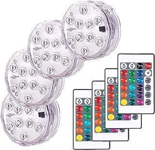 Zatapialne światła LED Wodoodporne oświetlenie podwodne wielokolorowe światła RGB 10 LED podwodne światło do kąpieli spa d...