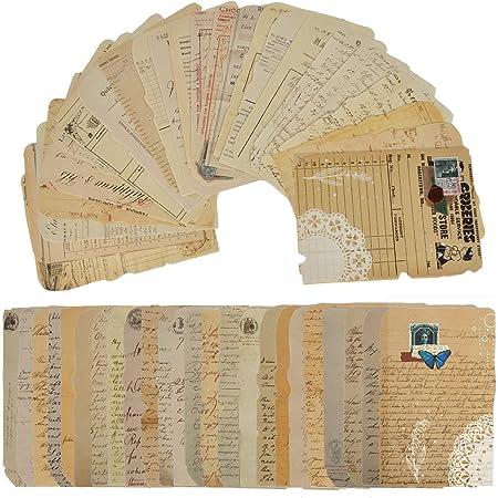 50 feuilles de papier de scrapbooking vintage,scrapbooking papier,scrapbooking,DIY Album Photo Décoration pour Journal Artisanat Scrapbooking,papier décoratif ancien,autocollant vintage. (C)