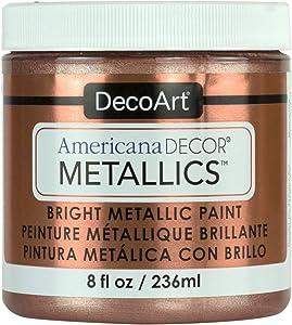 DecoArt Ameri Deco MTLC Rose Gold Americana Decor Metallics 8oz, 1, 8 Fl Oz