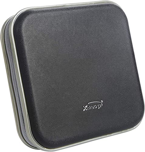 Saim Square CD DVD Bag Wallet 40 Capacity CD DVD Binder Disc Storage Case Wallet CD DVD Protection Box Case Holder Ha...