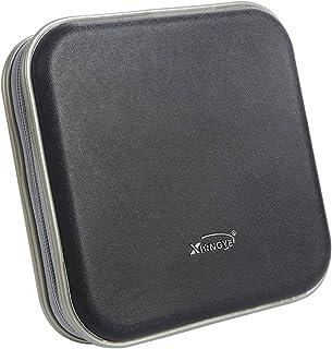 Saim Square CD DVD Bag Wallet 40 Capacity CD DVD Binder Disc Storage Case Wallet CD DVD Protection Box Case Holder Hard Sh...
