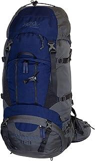 Tashev Outdoors Kentaurus - Mochila de senderismo para hombre y mujer, grande, 60 l y 10 l (fabricada en la UE), color azul oscuro