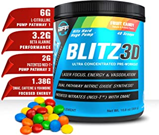 BLITZ3D™ Ultra Concentrated Pre-Workout, Premium, Effective, Affordable with L-Citrulline, NO3-T®, Beta Ala...