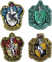 Harry Potter House of Gryffindor Crest, Slytherin, Ravenclaw, Huflepuff and Hogwarts Embroidered Patch Applique for Coat Jacket Gear Cap Hat Backpack (Set 4)