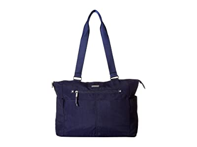 Baggallini New Classic Destination Tote with RFID Wristlet (Navy) Handbags