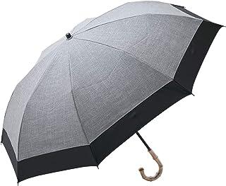 100%完全遮光 99%ではダメなんです! 【Rose Blanc】 日傘 晴雨兼用 UVカット 1級遮光 撥水 ブランド おしゃれ レディース かわいい 母の日 2段折りショート(傘袋) 50cm コンビ ダンガリー 4cb-d