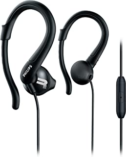 Philips SHQ1255TBK ActionFit Sports Headphones with Mic SHQ1255T Black