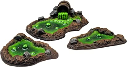 WWG Industry of War 3 x Toxic Waste Cess Pits – 28mm Wargaming Terrain Model Diorama