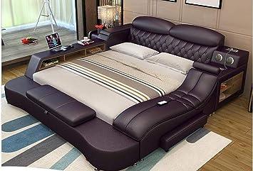 Amazon Com My Aashis Leather Led Light Bedroom Storage Furniture Bed Furniture Decor