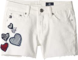 Lyla Shorts in White (Big Kids)