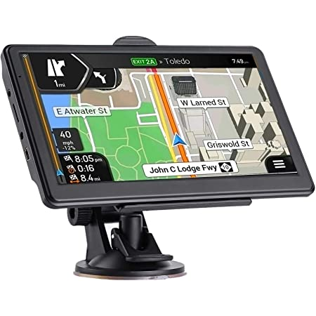 GPS Navigation for Car, Latest 2021 Map 7 inch Touch Screen Car GPS 256-8GB, Voice Turn Direction Guidance, Support Speed and Red Light Warning, Pre-Installed North America Lifetime map Free Update……