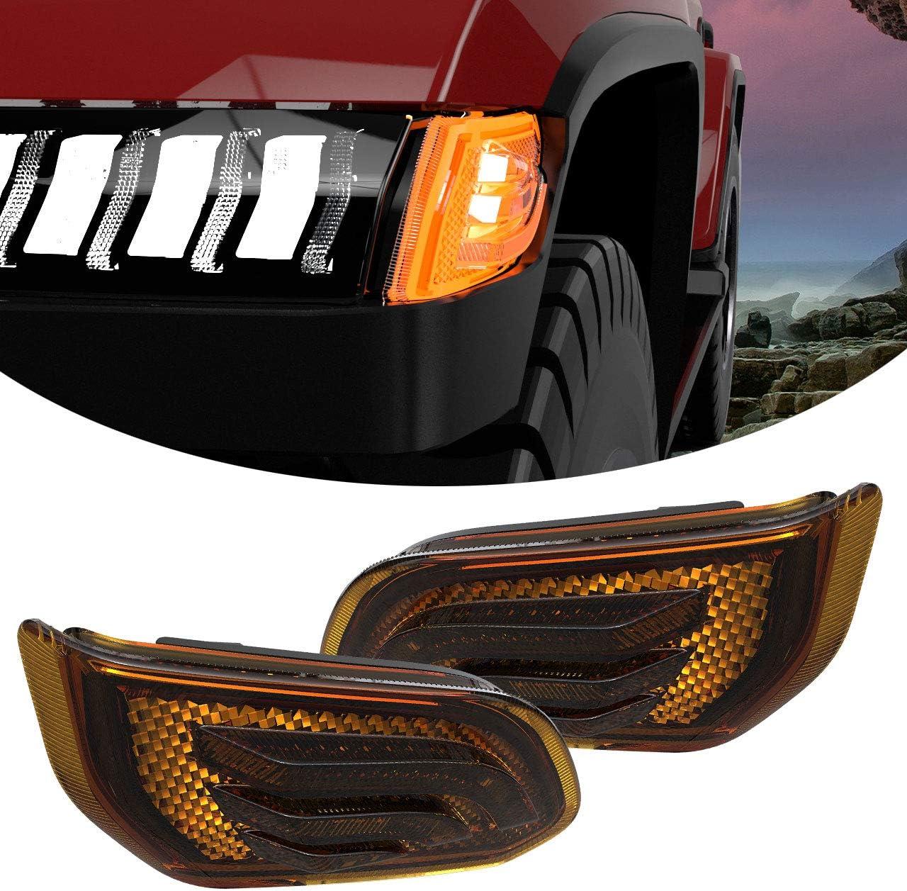 2 Pcs LED Side Marker Lights with 20 Lowest price challenge Soldering Wrangler Jeep Compatible JL