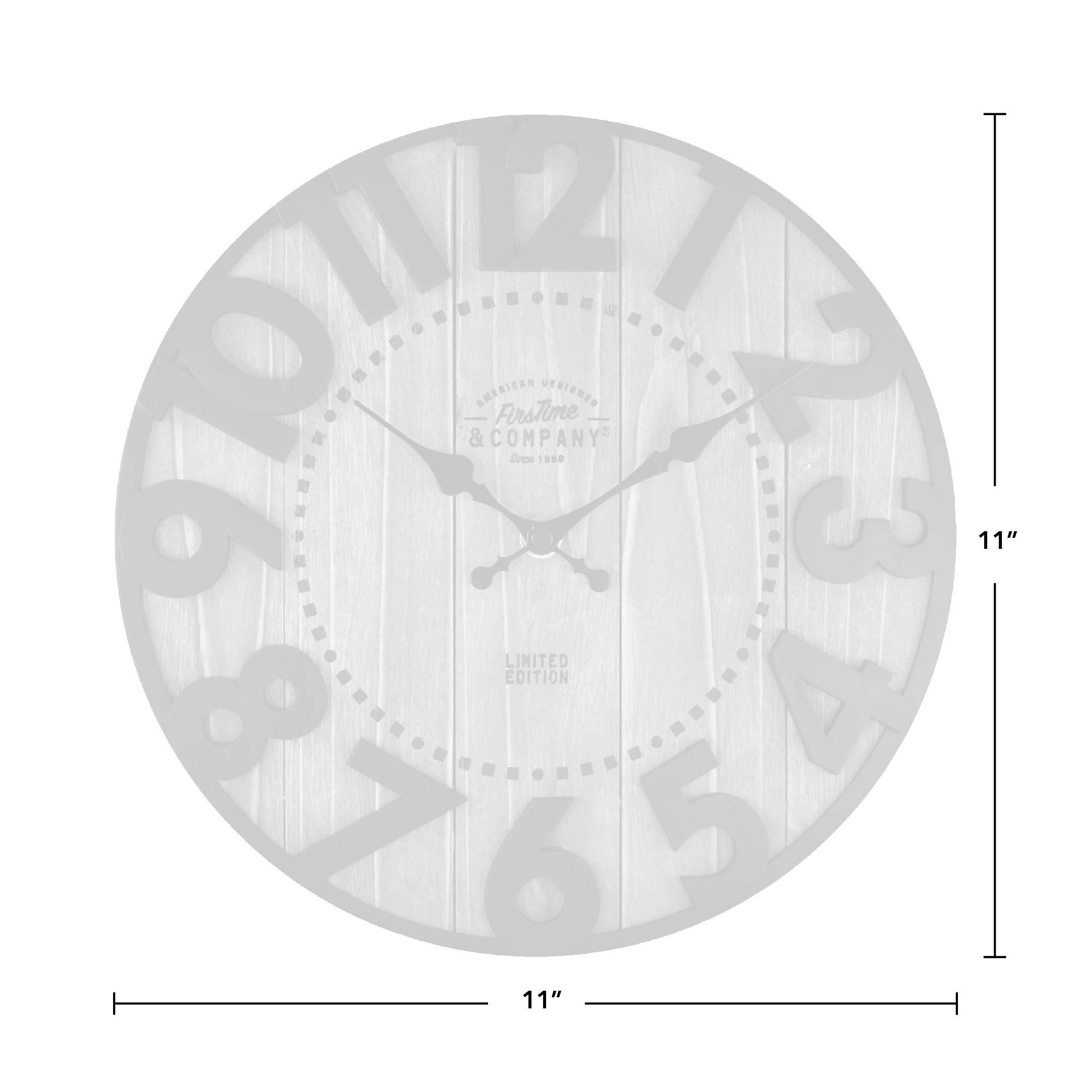 Firstime Co 00254 Langton Wall Clock 11 Antique Brown Black Wall Clocks Amazon Com Au