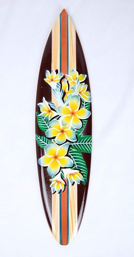 Asia Design Miniatur Surfboard Dekosurfboard Surfbrett Holz Wellenreiten inkl Holzst/änder Dekoration Nr 11 20cm