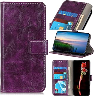 For Xiaomi Redmi 8A Retro Crazy Horse Texture Horizontal Flip Leather Case with Holder & Card Slots & Photo Frame & Wallet New (Black) Lipangp (Color : Purple)