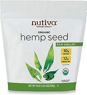 Nutiva Organic Raw Shelled Hemp Seed, 19 Ounce | USDA Organic, Non-GMO, Non-BPA | Whole 30 Approved, Vegan, Gluten-Free & ...