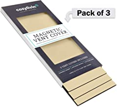 """Cozy Livin -Beige Magnetic Vent Covers - Super-Strong Magnet - 5.5"""" x 12"""" (3 Pack) - Fits Standard Air Vents-Registers-Floor Vents-AC Vents-HVAC Vents-Furnace Vents- Use on Floors, Walls, Ceilings, RV"""