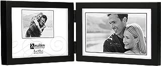 Malden International Designs Black Concept Wood Picture Frame, Double Horizontal, 2-4x6, Black