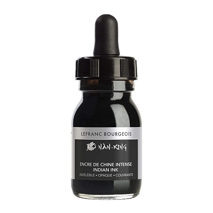 Lefranc & Bourgeois Nan King Calligraphy and Drawing Ink 30ml - Kalligrafie - und Zeichentusche Black