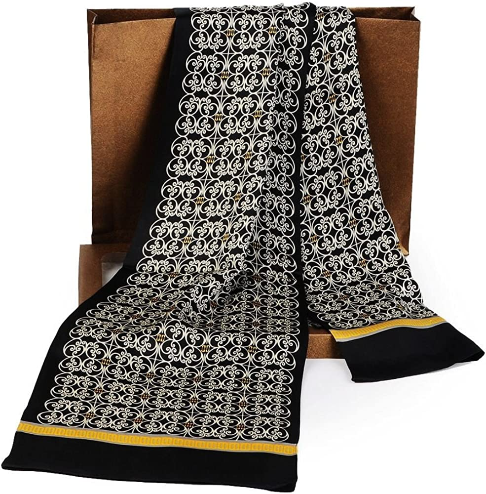 LONXU 100% quality warranty Fashion New life Mens Silk Long Scarives Scarf Double Cravat L