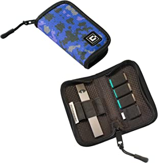 Carrying Case Wallet Holder for JUUL and Other Popular Vapes | Holds Vape, Pods and Charger | Fits in Pockets or Bags (Device Not Included)