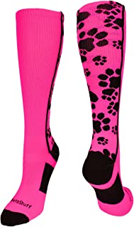 MadSportsStuff Crazy Socks with Paws Over The Calf (Multiple Colors)