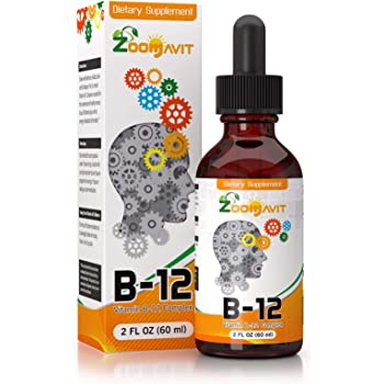 Vitamin B Complex Liquid Drops with Fast Absorption - Super B Liquid Complex Vitamins B2, B3, B5, B6 & B12 - Natural Energy Boost, Mental Focus & Healthy Immune System