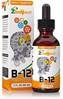 Vitamin B Complex Liquid Drops with Fast Absorption - Super B Liquid Complex Vitamins B2, B3, B5, B6 & B12 - Natural Energ...