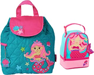 Stephen Joseph Quilted Mermaid Backpack and Lunch Pal for Girls