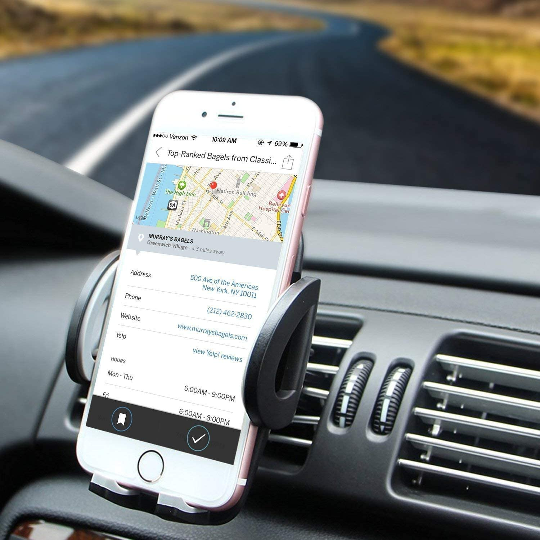 Sendis Kfz Halterung Lüftungs Unterstützung Auto Automobil Justierbarer Winkel Für Iphone 6s Mehr 6s 5s 5c 6 Samsung Galaxy Note Nexus Lg Sony Android Smartphones Gps Geräte Elektronik