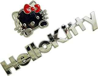Waterproof Self-sticking 3D Metal Car Decals Silver Motorcycle Decals Cartoon Cat And Text Combination Premium Metal Automotive Decals, Light, No Shrinkage, No Rust Metal Car Decorative Stickers