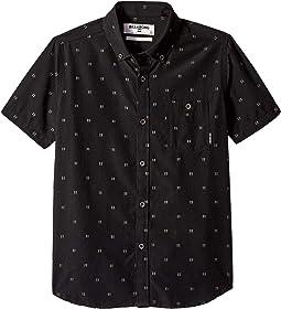 All Day Jacquard Short Sleeve Shirt (Big Kids)