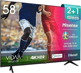 Hisense 58AE7000F - Smart TV Resolución 4K, UHD TV 2020, con Alexa integrada, Precision Colour, escalado UHD con IA, Ultra...
